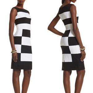 WHBM Colorblock Sheath Dress Size 14